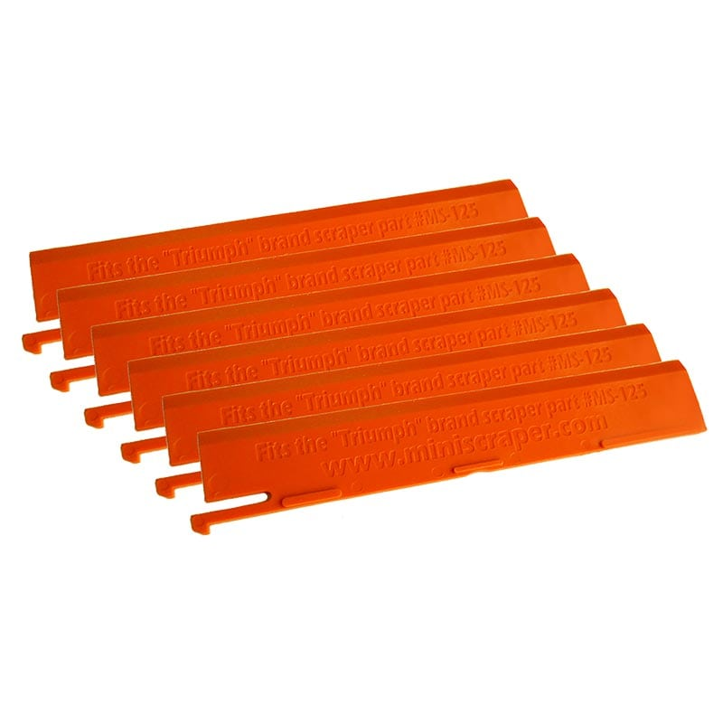 """6"""" Plastic Replacement Blades for Triumph Scrapers"""