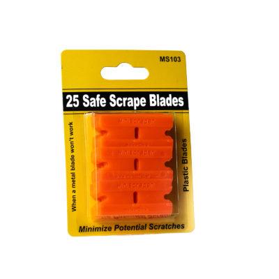 Plastic Razor Blades 25 Pack